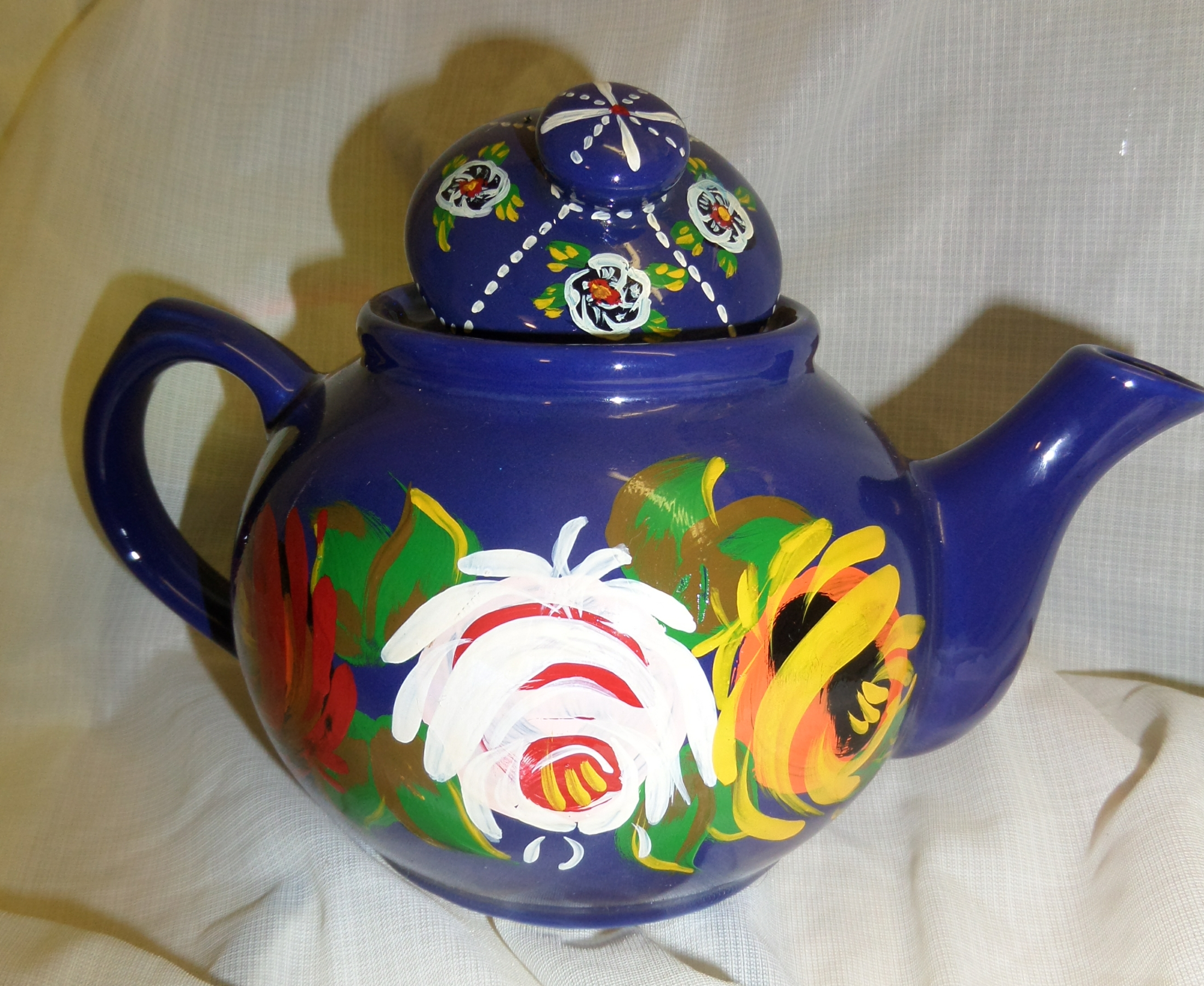 Tea Pot - medium, blue